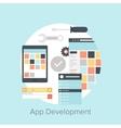 Application Development vector image vector image