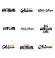 autumn fall logo and emblem