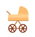 baby stroller with wheels vector image vector image