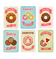 bakery retro posters vector image