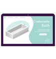 banner comfortable bath in isometric vector image