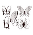 beautiful butterflies collection vector image