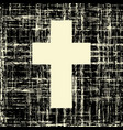 Black cross on grunge background textures