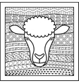 Chinese zodiac sign Sheep vector image vector image