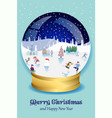 christmas magic ball vector image vector image