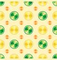 citrus fruit background elements for menu vector image