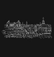 cityscape background sketch for your design vector image vector image