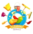 Cleaning Logo Business Composition vector image vector image