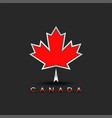 coat arms canada maple leaf with 3d effect vector image