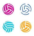 Colorful volleyball balls vector image vector image