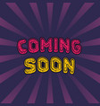 coming soon banner in vintage style vector image