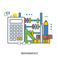 concept of natural science of mathematics vector image