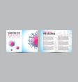 coronavirus covid19 19 brochure a4 template
