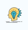 creative creativity head idea thinking flat icon vector image