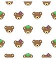 cute bear with a cap seamless bapattern vector image vector image