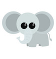 cute little elephant on white background vector image vector image