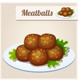 Detailed Icon Meatballs vector image