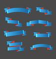 Different retro style blue ribbons set Ready for a vector image
