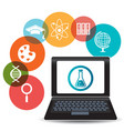Electronic education or e-learning vector image