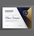 elegant diploma certificate of achievement vector image vector image