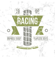 Emblem motorcycle racing club in retro style vector image vector image