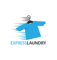 express dry cleaning icon vector image