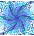Fantastic blue flower vector image vector image