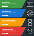 Flat Design Concept Set of Web Banners Monitoring vector image