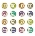 folders icons set vector image