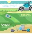 Gardening tools baner set eps 10 vector image