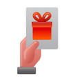 gift card icon vector image vector image