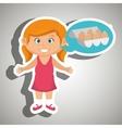 girl cartoon eggs health food vector image vector image