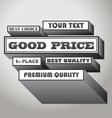 Good price vector image