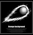grunge black golf background vector image vector image