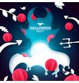 halloween party devil paper vector image vector image