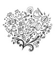 hand drawn isolated creative doodle art vector image
