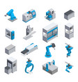 industrial equipment isometric icons vector image