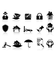 insurance icons set vector image vector image