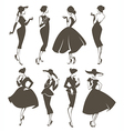 large retro collection vector image