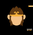 luxury monkey king vector image