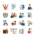 Man Daily Routine Icons vector image vector image