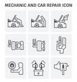 mechanic car icon vector image vector image