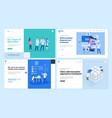 medicine and healthcare web page design templates vector image vector image