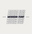 modern font line style vector image vector image