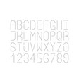 modern single thin line font uppercase vector image