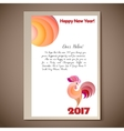 New Year of the red Rooster vector image