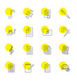 note icons vector image vector image