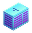 office city building icon isometric style vector image