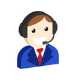 operator avatar customer support symbol flat vector image vector image