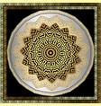 ornamental round mandala pattern floral vector image vector image